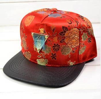2014 Ethnic Korean version hat the new high-end silk printing H triangle labeled hip-hop baseball ca
