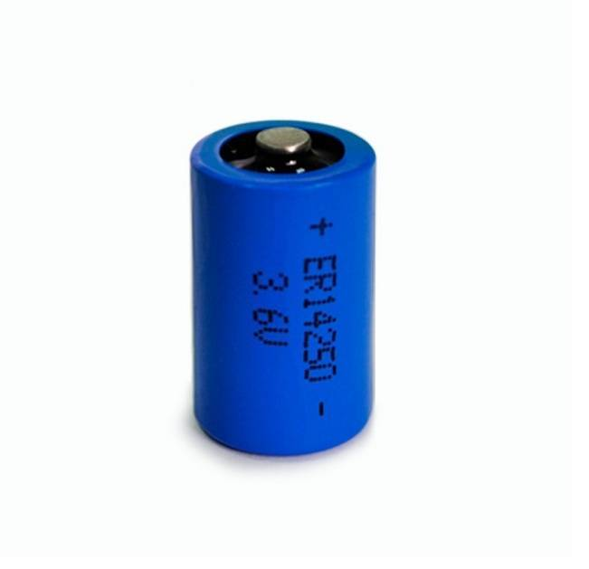 3.6V LISOCL2 primary lithium battery 1/2AA 1200mAh ER14250 water meter battery factory supply