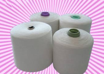 polyester spun yarn 20s/1 32s/1 ring spun waxed for making thread