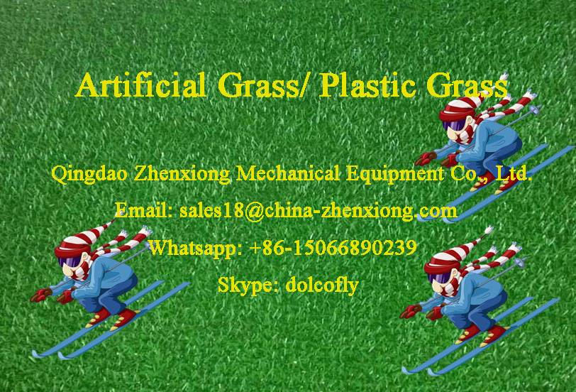 Artificial grass turf mat extrusion line