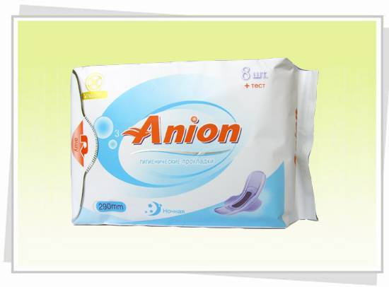 290mm anion sanitary napkin