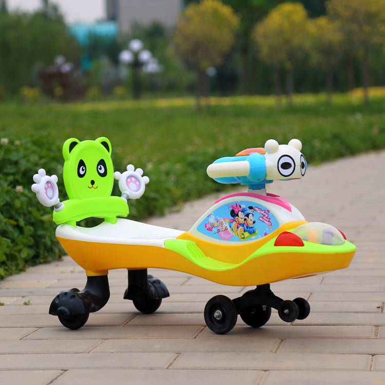 Beautiful and Flashing Colors Cheap Price Factory Sells Well Children Swing Car Baby Swing Car