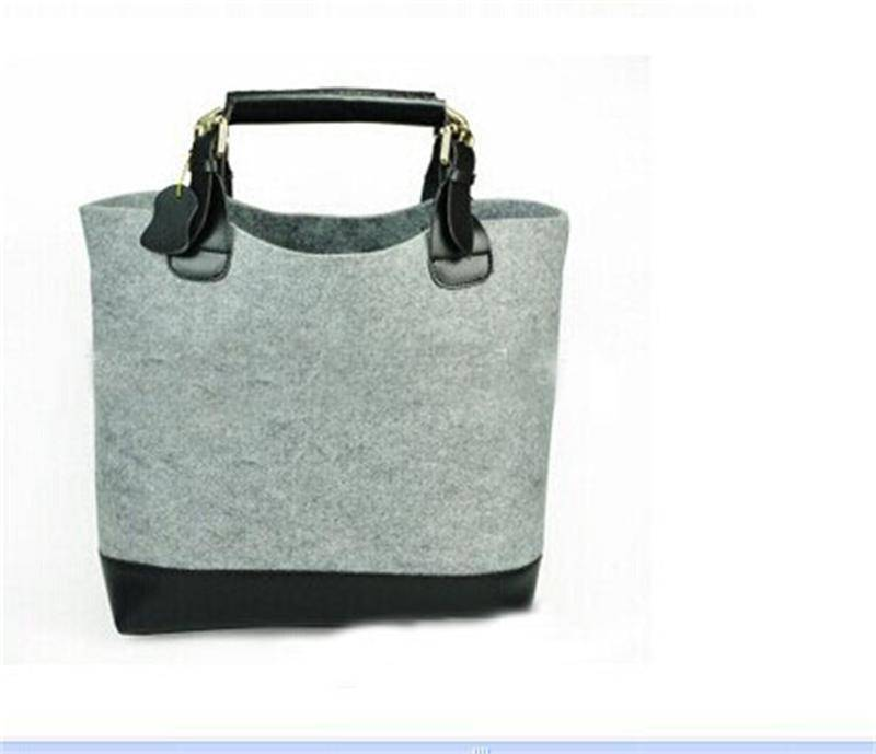 fashion non-woven felt handbag, ladies tote bag