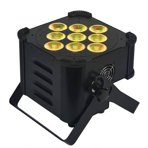 9X12W 6IN1 Battery Powered & Wireless DMX LED Par