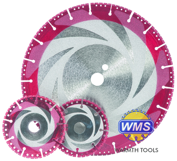vaccum brazed diamond blades with coating