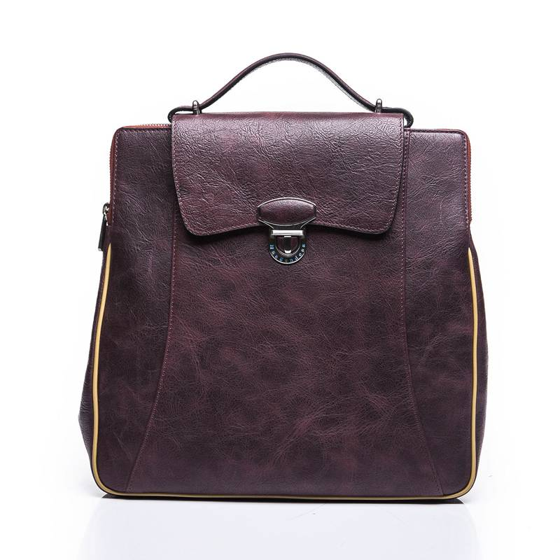 Youth travel bag first layer of leather shoulder bag leisure vertical section square leather busines