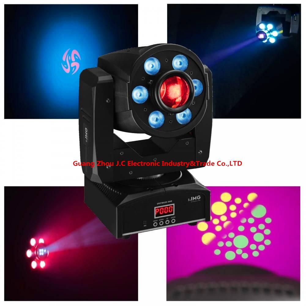 Moving Head Light 1PCS 30W Spot+ 68w wash 4in1 DMX RGBW LED DJ Wash Spot