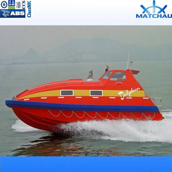 Totally Enclosed Fibreglass Fast Rescue Boat