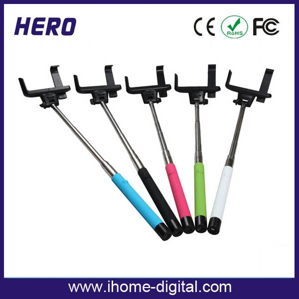 Wireless Bluetooth Extendable Self-portrait Selfie Monopod For smartphone