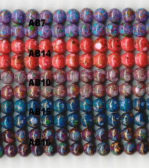 Supplying magnetic marble beads, magnetic marbleized beads,painted beads