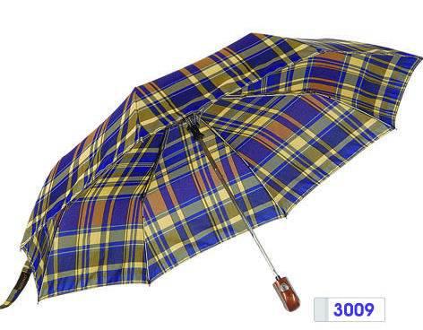 3 Fold Auto Open Auto Close Pongee Yarn-Dyed Umbrella