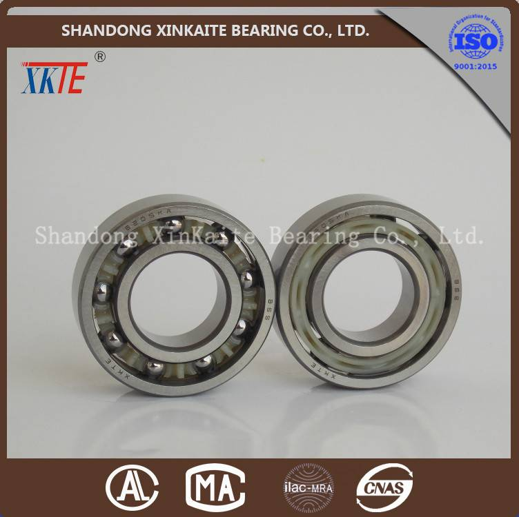 XKTE brand nylon retainer 6205TN/C3/C4 conveying idler bearing supplier from china manufacture