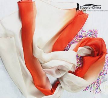 Chiffon gradient color long scarf
