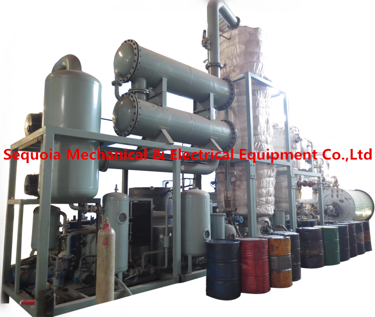 black dirty motor oil recycling and regenerate machine