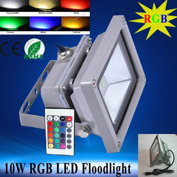RGB LED Floodlight Outdoor Lighting for Garden, Lawn, Square, Street, RGB LED Floodlight Waterproof