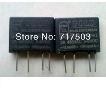 Freeshipping PCB small solid state relay single-in-line SAI4002D DC to AC 2A SSR input 3-8v output 4