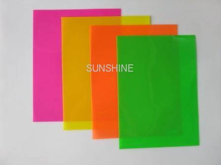 fluo color pp sheet