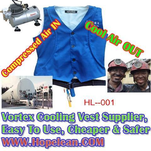 Cooling Vest for High-temperature workers, Easy to use, Cheaper and Safer