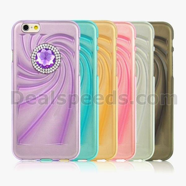 Luxious Diamond TPU Case Back Cover for iPhone 6S Plus-White