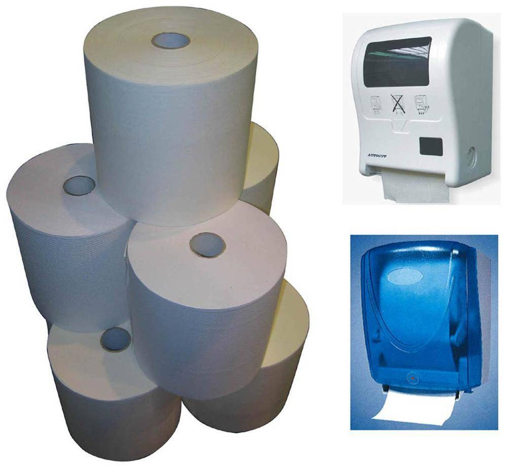 offer Jumbo Hand Roll Paper Towel and Touch-free HRT Dispenser