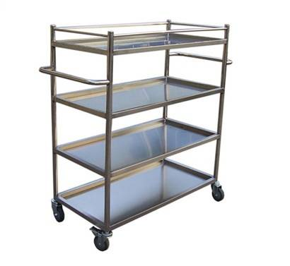 Two handle tray type material shelf trolley RCS-045