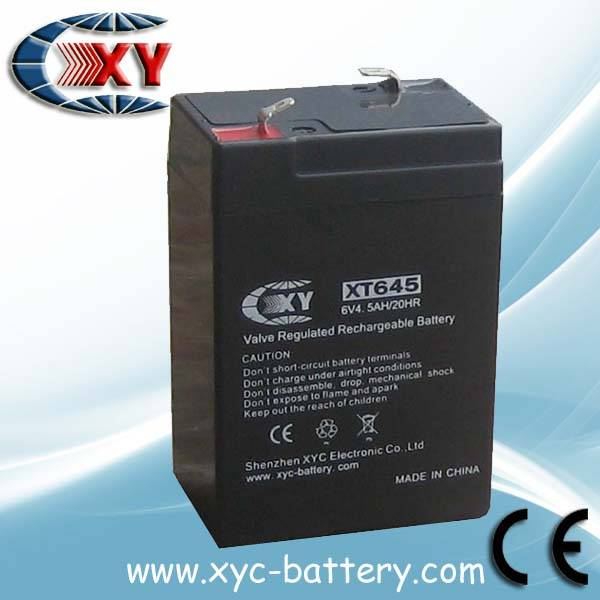 6V4.5AH maintenance free battery