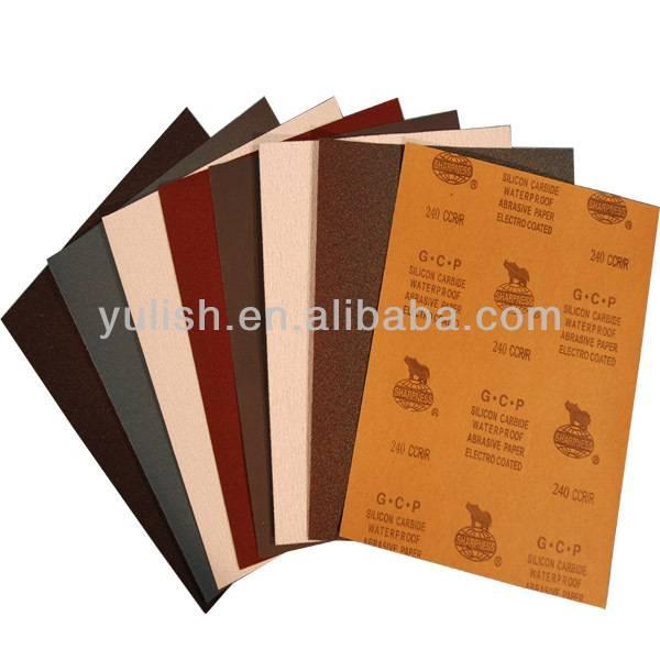 wholesale price of abrasive cloth sheet/abrasive sandpaper sheet