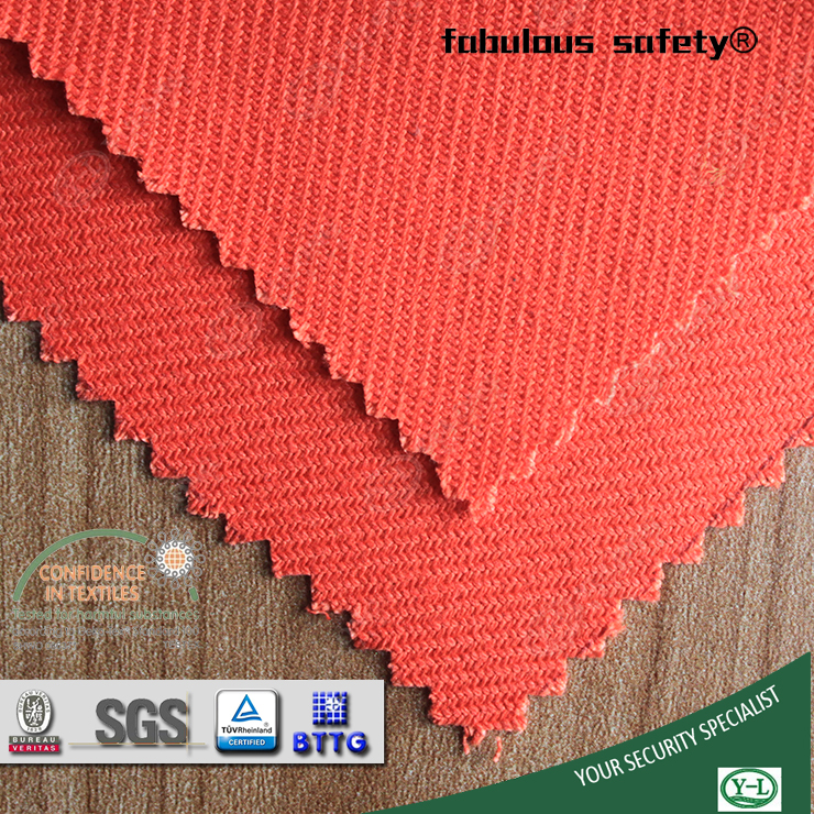 EN11611 cvc flame retardant twill fabric wholesale for coverall