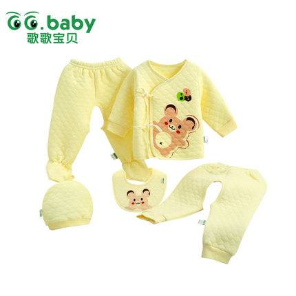 2015 Fashion Belt 5pcs Babies Sets Spring Newborn Baby Clothing Set Cotton Baby Girl Boy Clothes Sui
