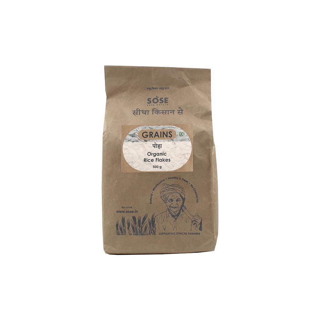 Sidha Kisan Se Organic Rice Flakes (White Poha) 500gm