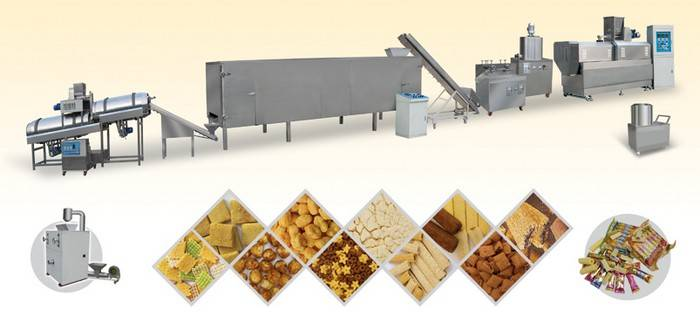 Core-filling Extrusion Snack Process Line