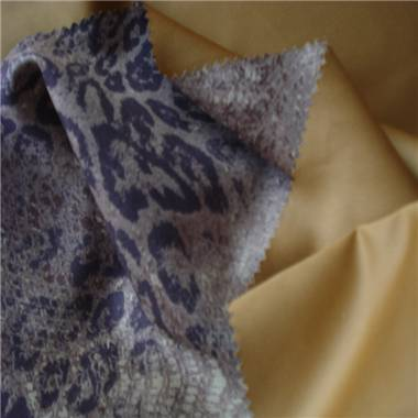 Printed micro suede fabric, made of 100% polyester, used for sofa, shoes and garments
