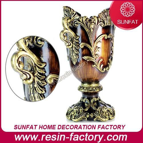 Decorative home decor resin Antique vase
