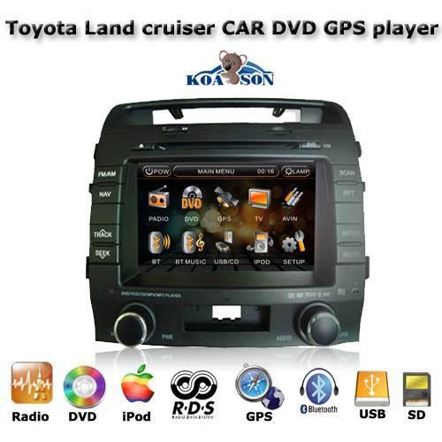 Car DVD GPS Navigation Player For Toyota Land Cruiser