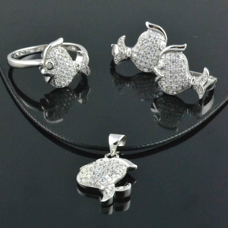 wholesale fashion 925 silver jewelry sets