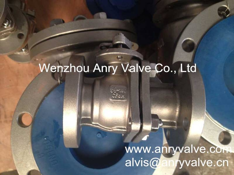 API 6D stainless steel 2 pcs flanged ball valve