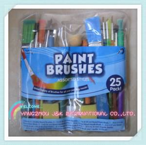 25PCS School Paint, Kids Foam Painting Brush