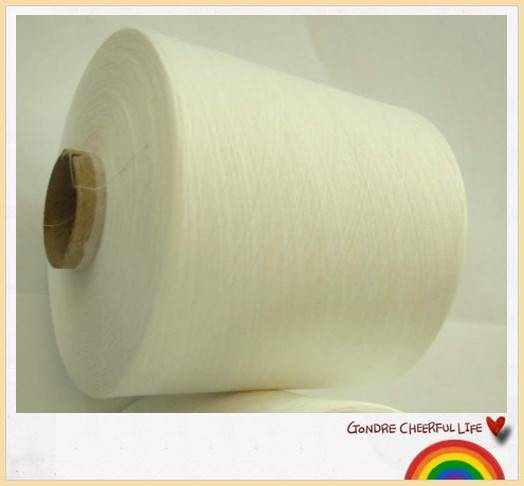 ne 39s 100% polyester spun yarn close virgin in lot stock