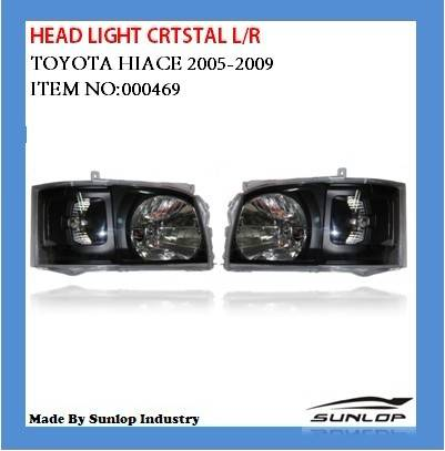 toyota hiace body kits hiace head light crystal for hiace 2005 up commuter van bus