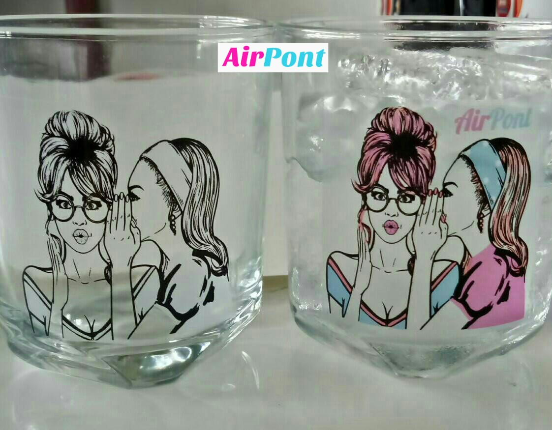 AirPont Thermochromic Cold Sensitive Colorchange Logo Glass
