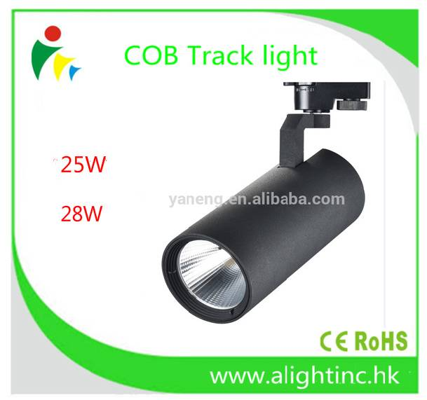 Commercial Light Aluminum Track Light 28W with COB LED 3000K global track lighting