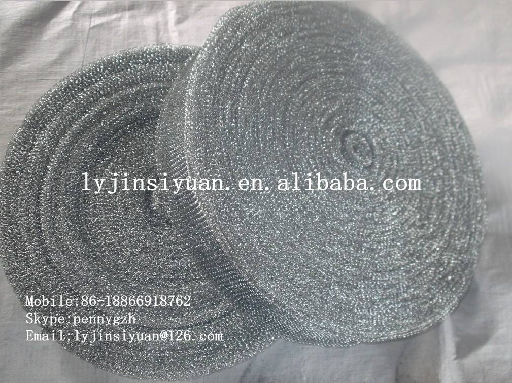 Mesh scrubber/scourer/cleaning ball in roll
