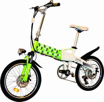 classic folding electric bicycle with pedal assistant