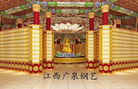Buddha wall in temple