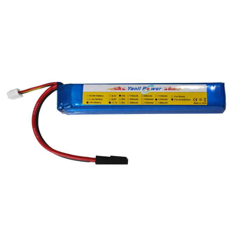 Airsoft Gun LiPo Battery Pack 11.1V 1500mAh 15C