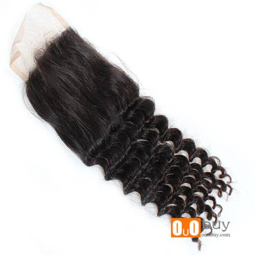 High Quality 7A Grade Brazilian Hair Closure Double Machine Strong Weft, No Shedding, No Tangle