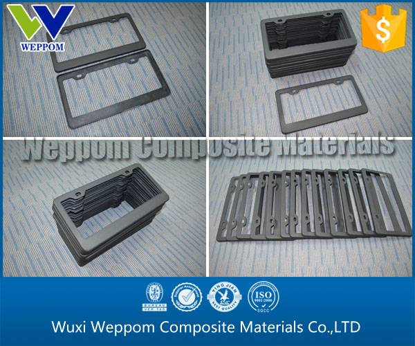 Export To America,Top Quality Carbon Fiber Licence Plate Frame