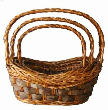 2014 New Arrival woodchip baskets. wine baskets. gourmet baskets