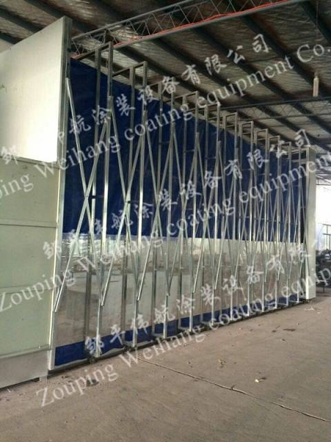 Steel Frames Auto Spray Booths For Cars Retractable ISO9001