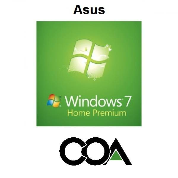 Microsoft Windows 7 Home Premium OA Asus COA Sticker